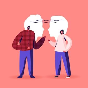 Empatia, habilidades de comunicação, mente aberta, ilustração de inteligência emocional