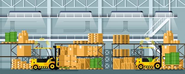 Empilhadeira de distribuição automática para armazém
