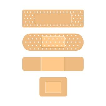 Emplastros médicos. band-aid adesivo. remendo remédio
