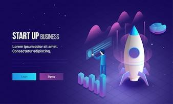 Empreendedor analisar seu crescimento ou sucesso da empresa.