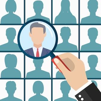 Empregado de gestão de recursos humanos selecione