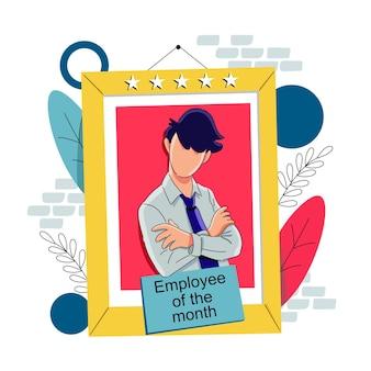 Empregado do conceito do mês