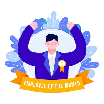Empregado do mês ilustrado conceito