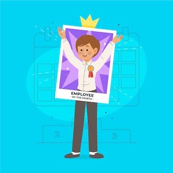 Empregado do mês ilustrado conceito Vetor grátis