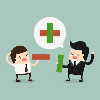Empregado e patrão falando