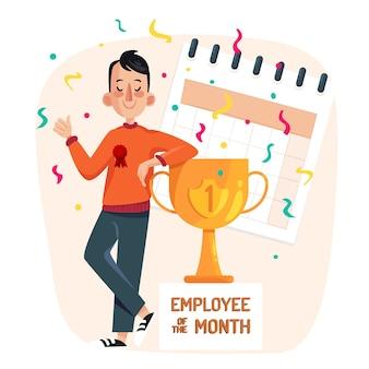 Empregado ilustrado do mês