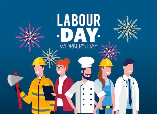 Empregadores profissionais para o trabalho dia feriado