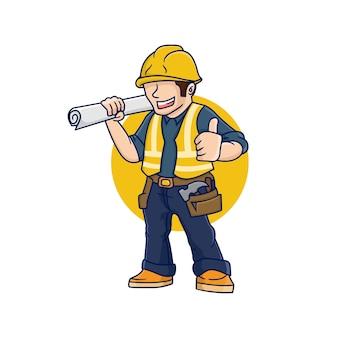 Empreiteiro construtor, arquiteto, engenheiro edifício