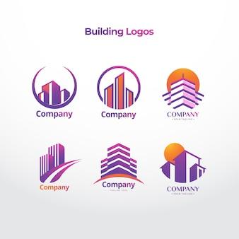 Empresa de construção de logotipo