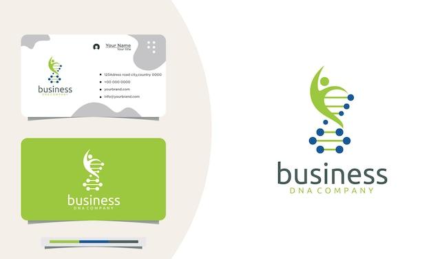 Empresa de design de logotipo elegante dna helix