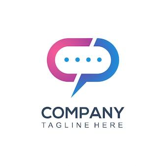 Empresa de logotipo de comunicação