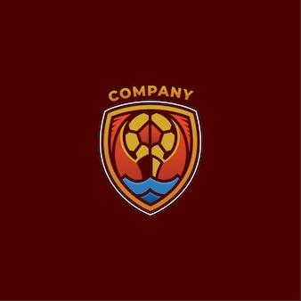 Empresa de logotipo de futebol