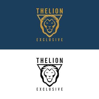 Empresa de logotipo de leão de luxo
