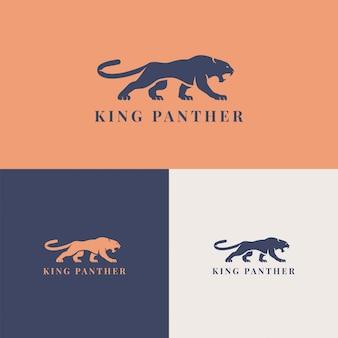 Empresa de marca de modelo de logotipo pantera rei