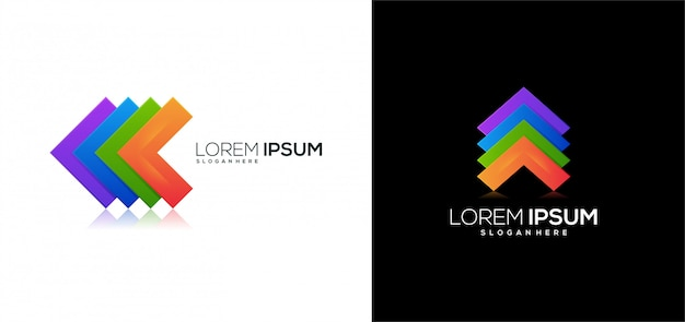 Empresa de negócios ícone logotipo colorida