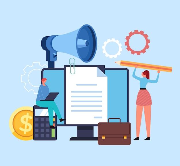 Empresa nova empresa start up conceito de organização de planejamento de análise financeira de desenvolvimento de estratégia.