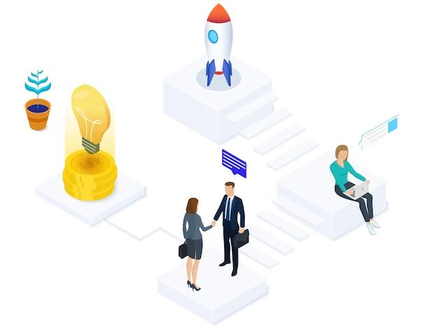 Empresa start-up isométrica