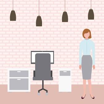 Empresária no escritório