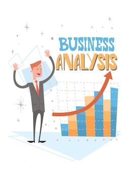 Empresário análise finance graph financial business