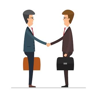 Empresário apertar as mãos ilustração