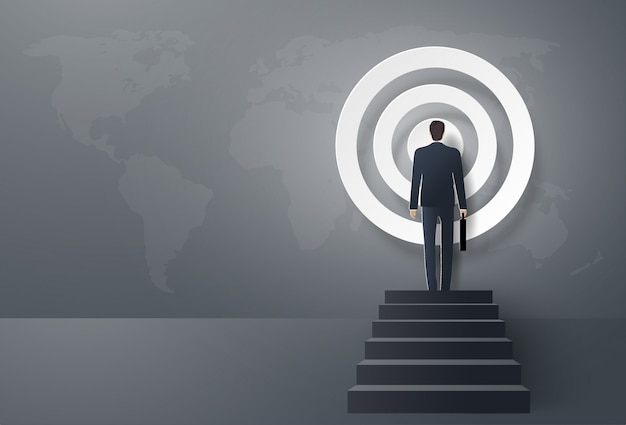 Empresário avança para o alvo, para ser sucesso