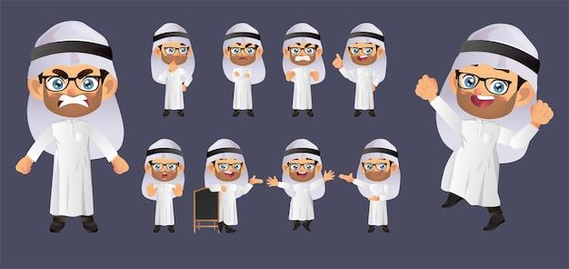 Empresário com diferentes poses