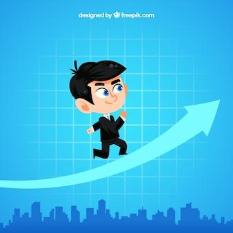Empresário com gráfico