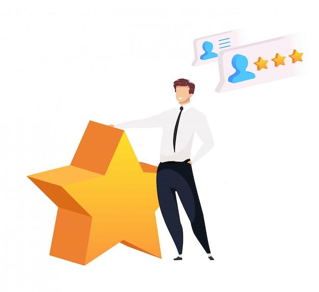 Empresário com grande estrela