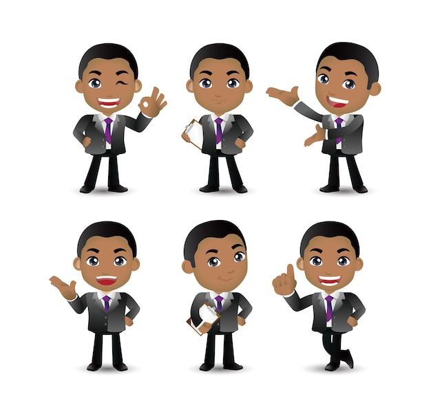 Empresário com poses diferentes