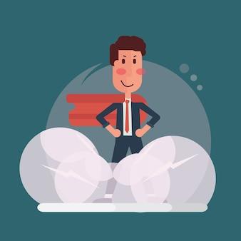Empresário confiante - homem de escritório super
