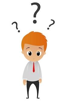 Empresário confuso e mal-humorado