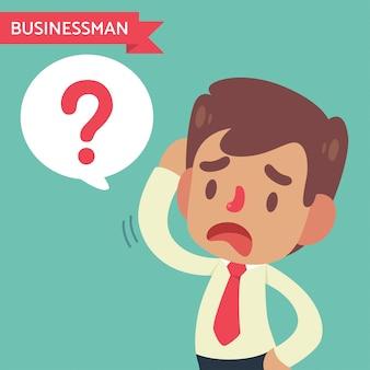 Empresário confuso