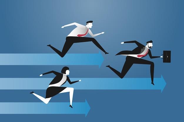 Empresário correndo competição