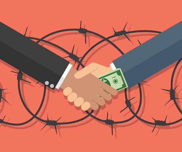 Empresário dando suborno