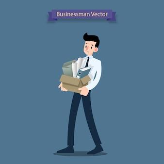 Empresário de decepção se tornar desempregado.