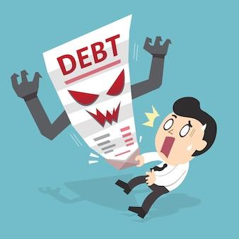 Empresário dos desenhos animados e letra da dívida
