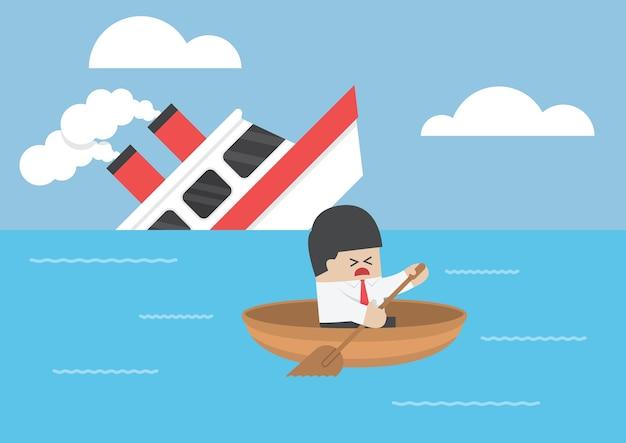 Empresário escapar do naufrágio
