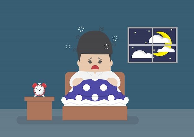 Empresário está bem acordado no meio da noite