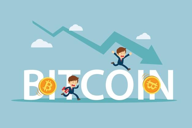 Empresário está triste com a queda no preço do bitcoin