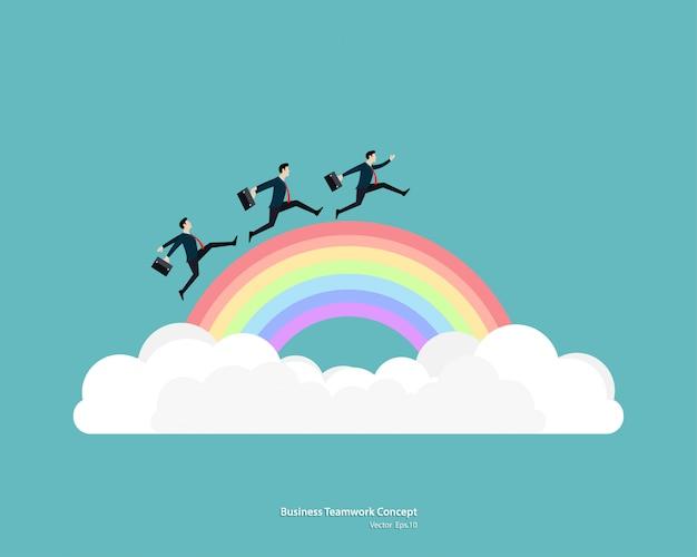 Empresário executado no arco-íris ir para o sucesso