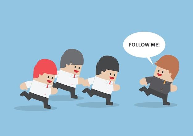 Empresário executado seguindo o líder