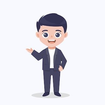 Empresário explica o design de personagens de pose.