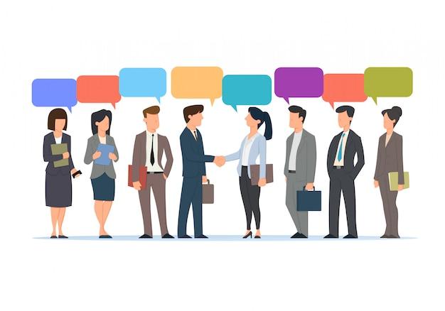 Empresário falando com balão de alvo compartilhado. ilustração de negócios de conceito