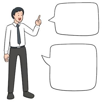 Empresário falando