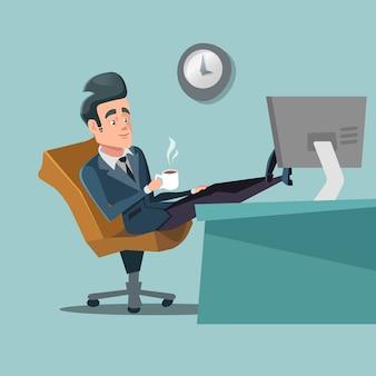 Empresário faz pausa para café