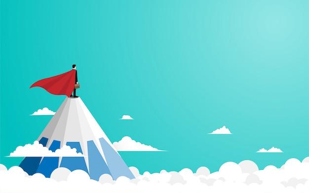 Empresário fica no topo da montanha