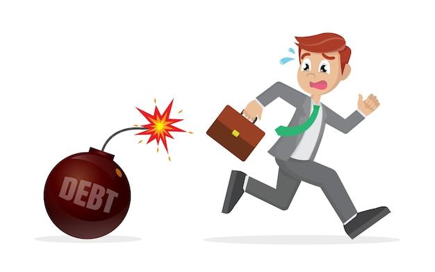 Empresário fugir da bomba da dívida.