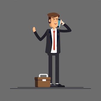 Empresário ou gerente em um terno de negócio