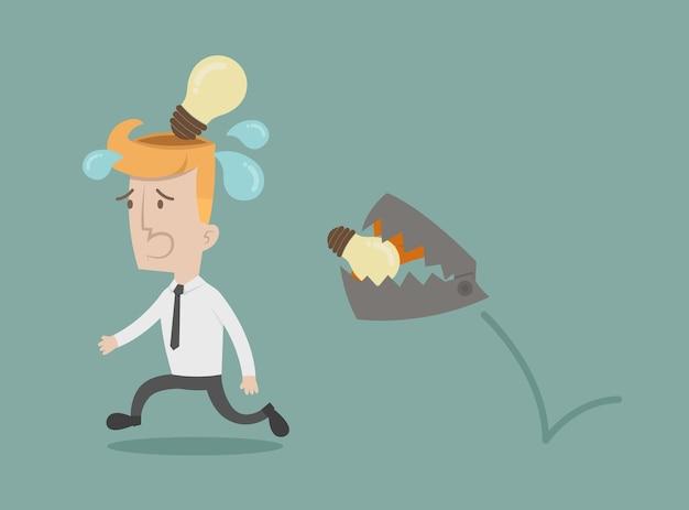 Empresário perde a idéia