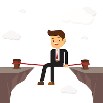 Empresário relaxe em risco